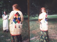 Brook Bovard in the jester costume.